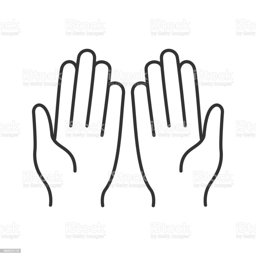 Müslüman Dua Eden Eller Simgesini Stok Vektör Sanatı Allahnin