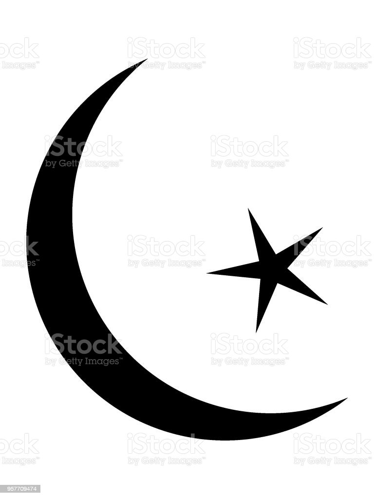 Muslim Star And Crescent Symbol Stock Vector Art More Images Of
