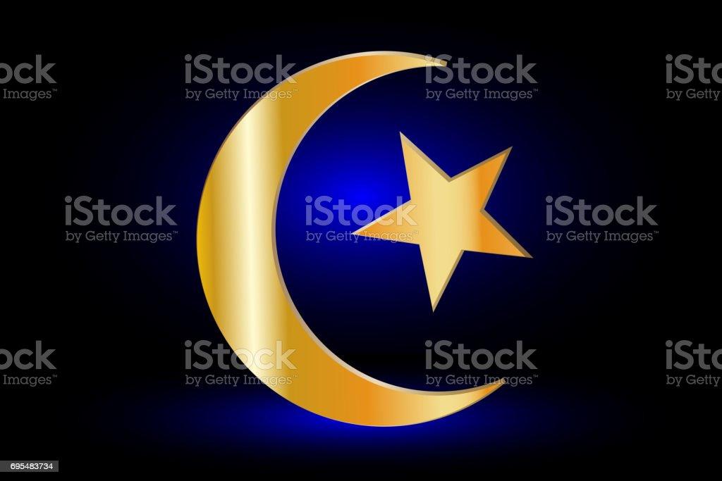 moslim symbool het symbool van de islam halve maan en ster