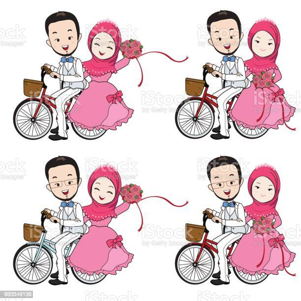Muslim Wedding Vector Art Graphics Freevectorcom