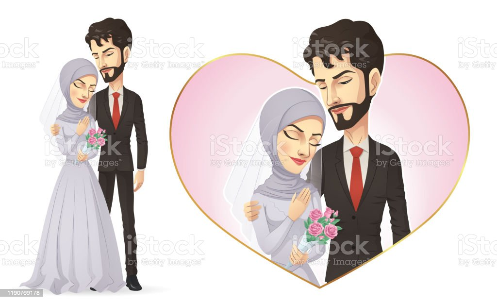 Muslim Wedding Couple Stock Illustration Download Image Now Istock