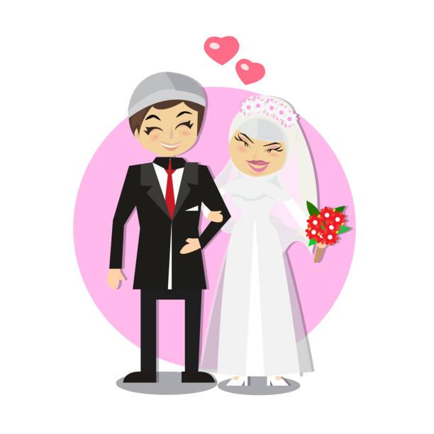 Best Muslim Wedding Illustrations Royalty Free Vector Graphics