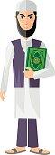 Muslim with the Koran