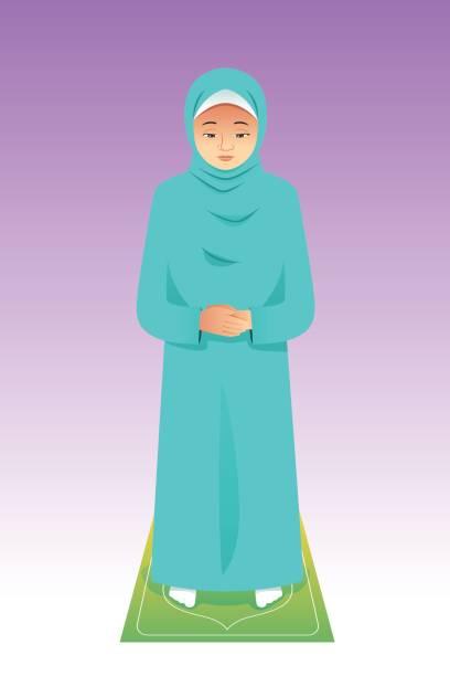 Royalty Free Muslim Women Praying Clip Art Clip Art, Vector Images ...