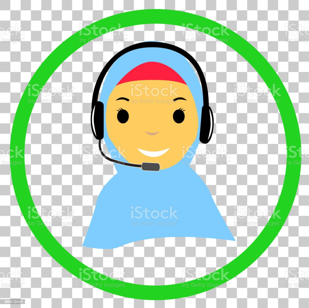 Muslimah Call Center at transparent effect background muslimah call center at transparent effect background - stockowe grafiki wektorowe i więcej obrazów arabia saudyjska royalty-free