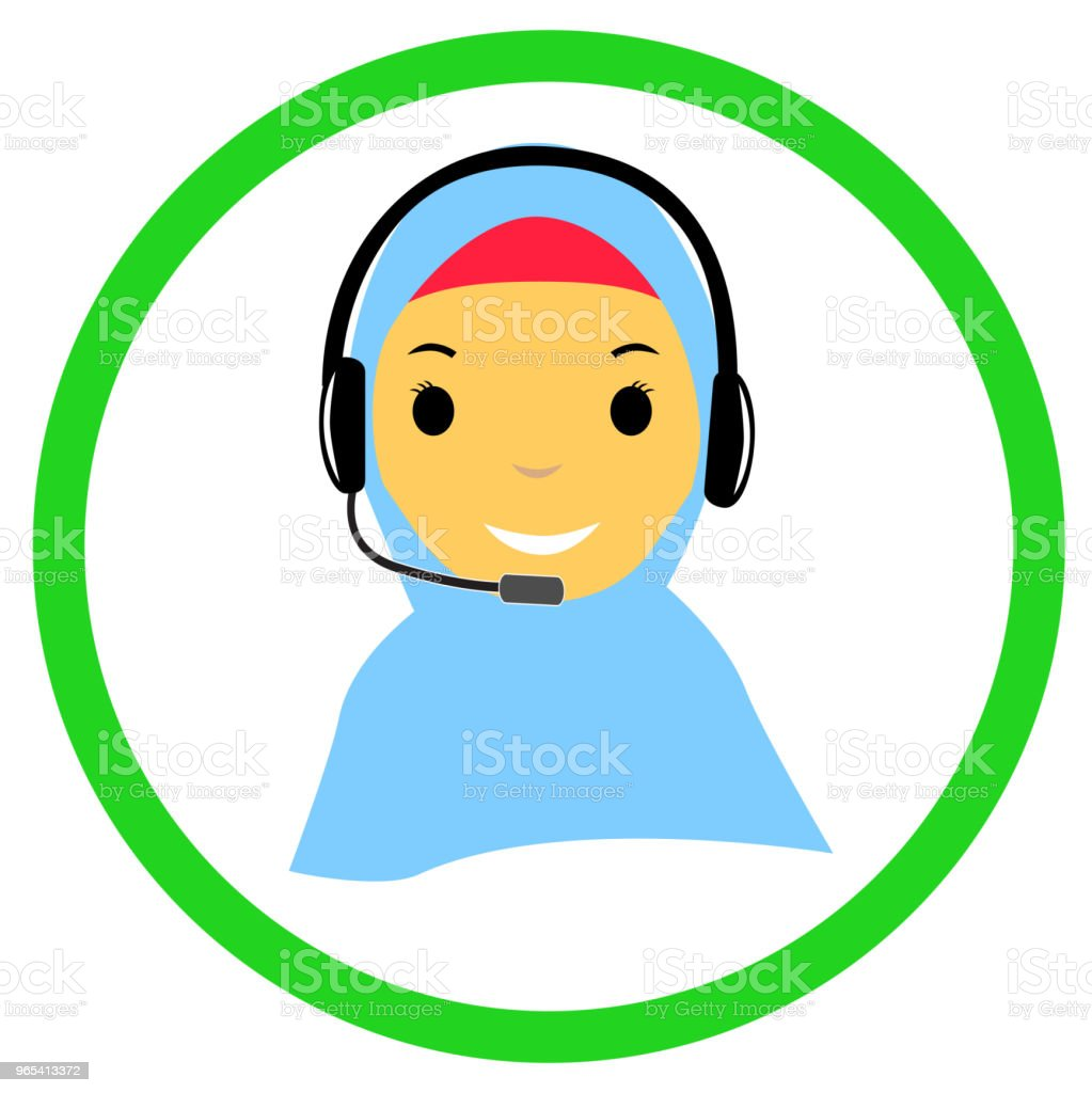 Muslimah Call Center royalty-free muslimah call center stock vector art & more images of customer