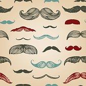 Mustache hand-drawn illustration