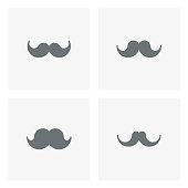 Mustache icons,vector illustration. EPS 10.