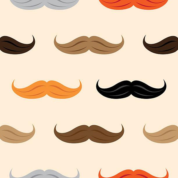 ilustrações, clipart, desenhos animados e ícones de bigode padrão - bigode