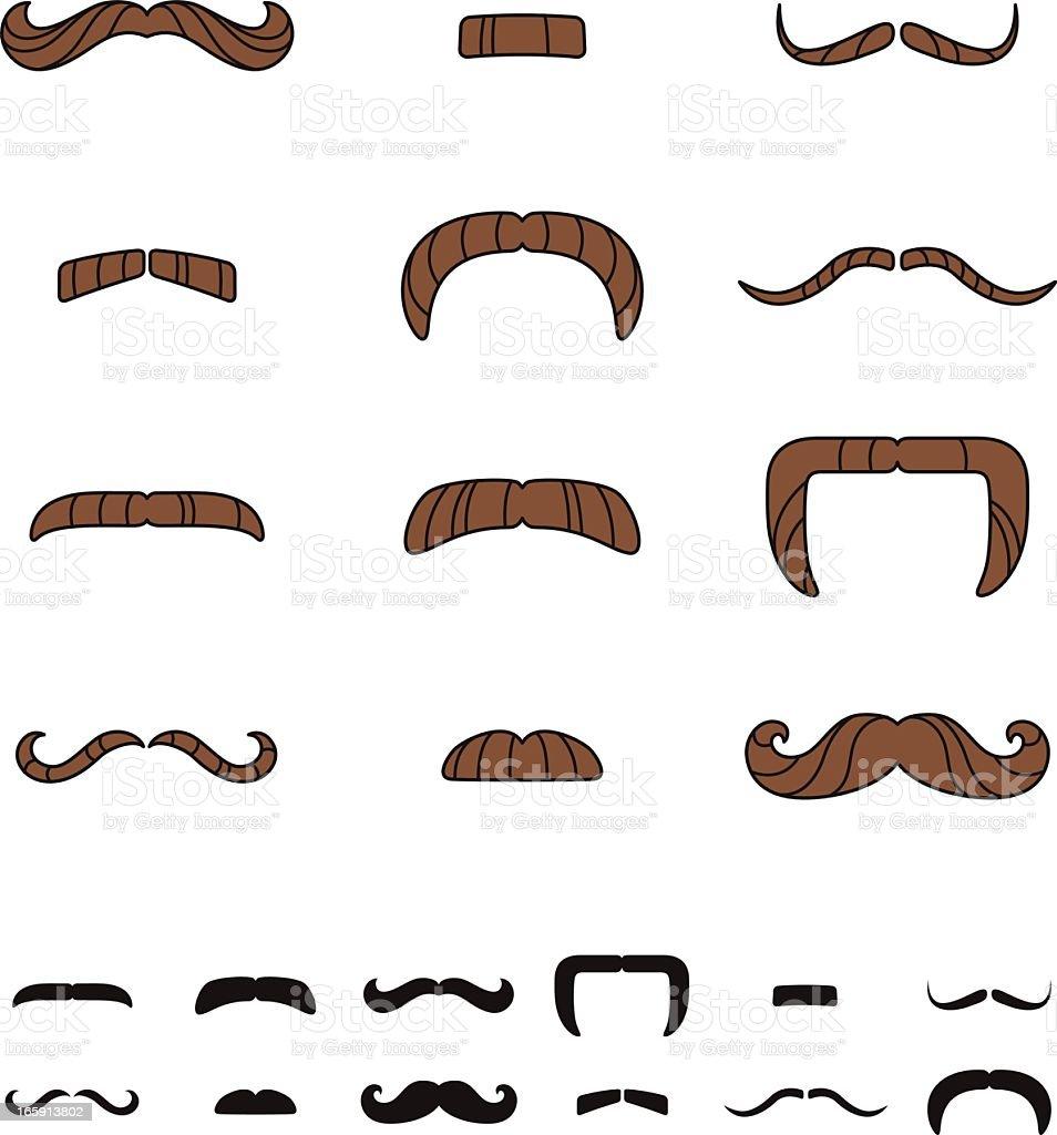 Mustache Styles vector art illustration