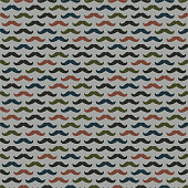 Colorful mustaches on gray background