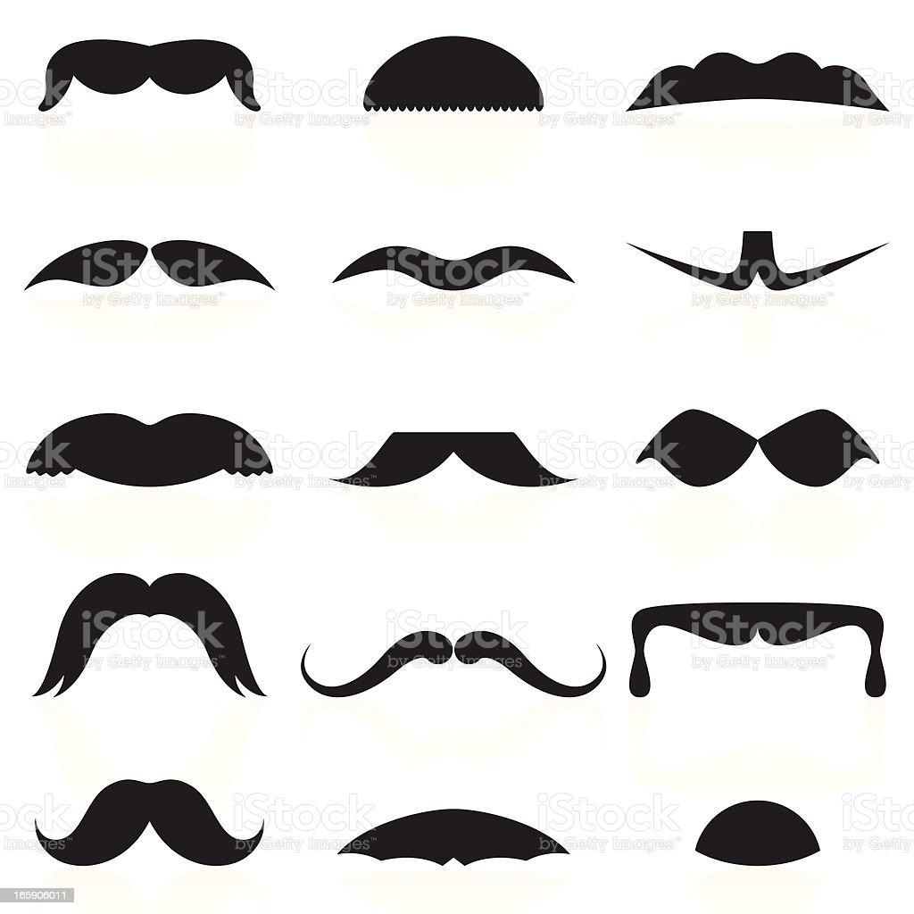 Mustaches Set 02 vector art illustration