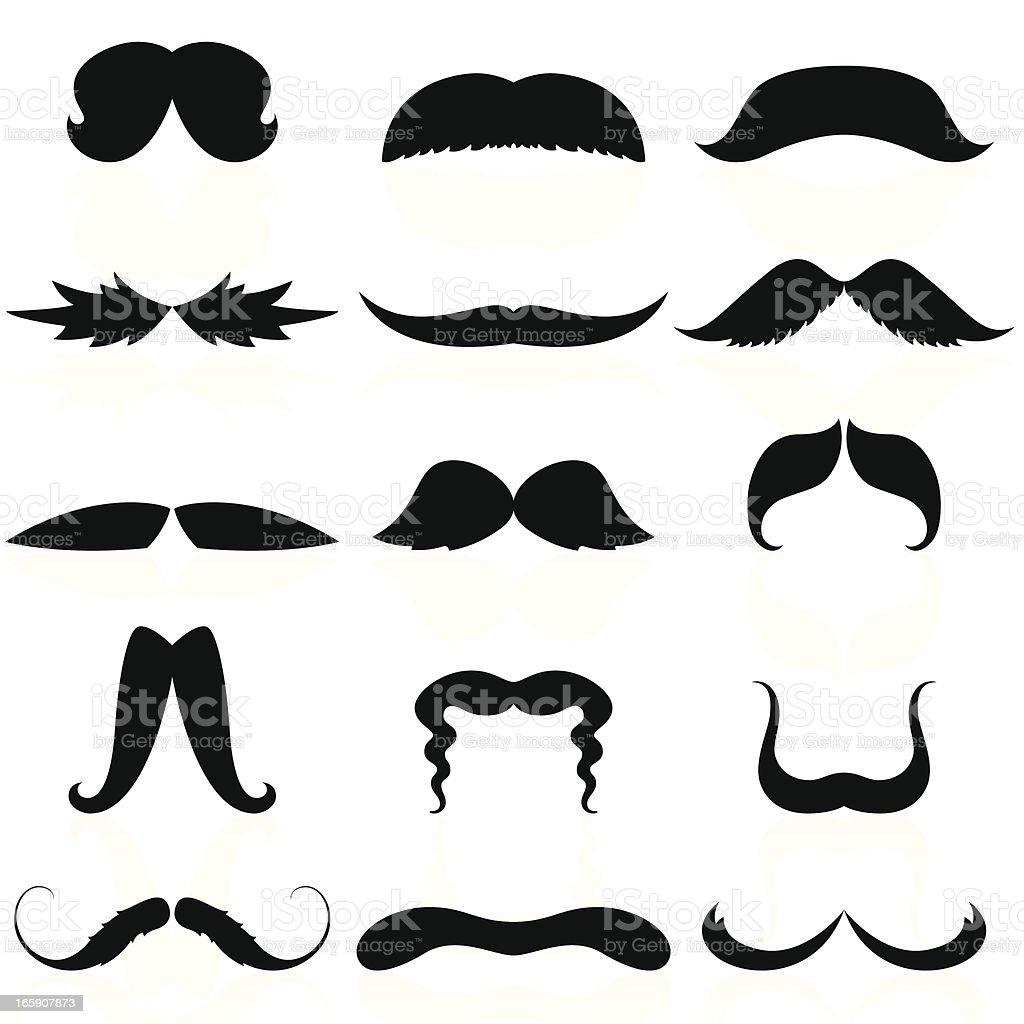 Mustaches Set 03 vector art illustration