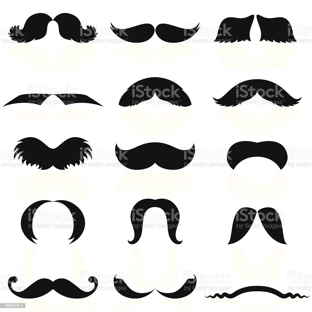 Mustaches Set 04 vector art illustration