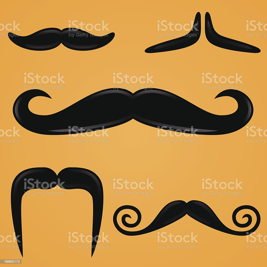 Mustaches royalty-free stock vector art