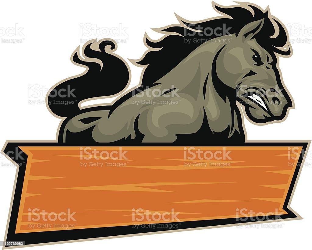 Mustang Mascot Sign vector art illustration