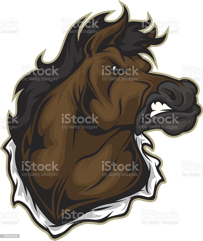 Mustang Mascot vector art illustration