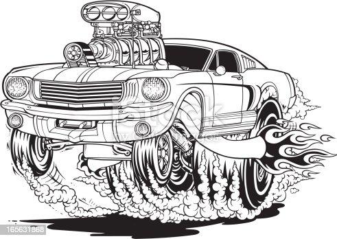 Mustang Muscle Car Stock Vector