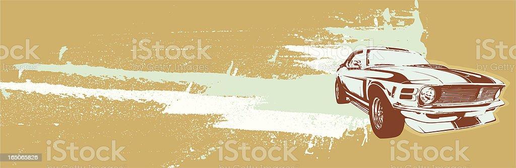 Mustang speed grunge vector art illustration
