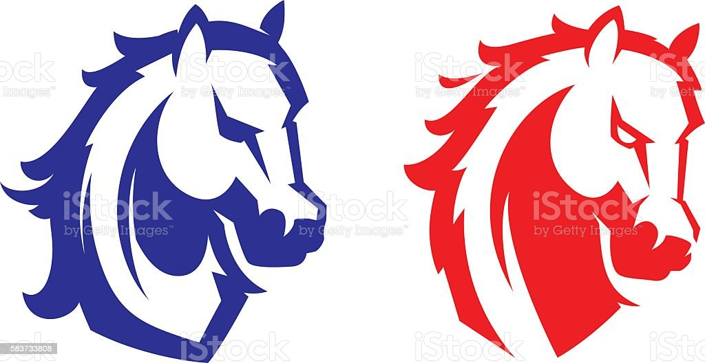 Mustang sport mascot. vector art illustration