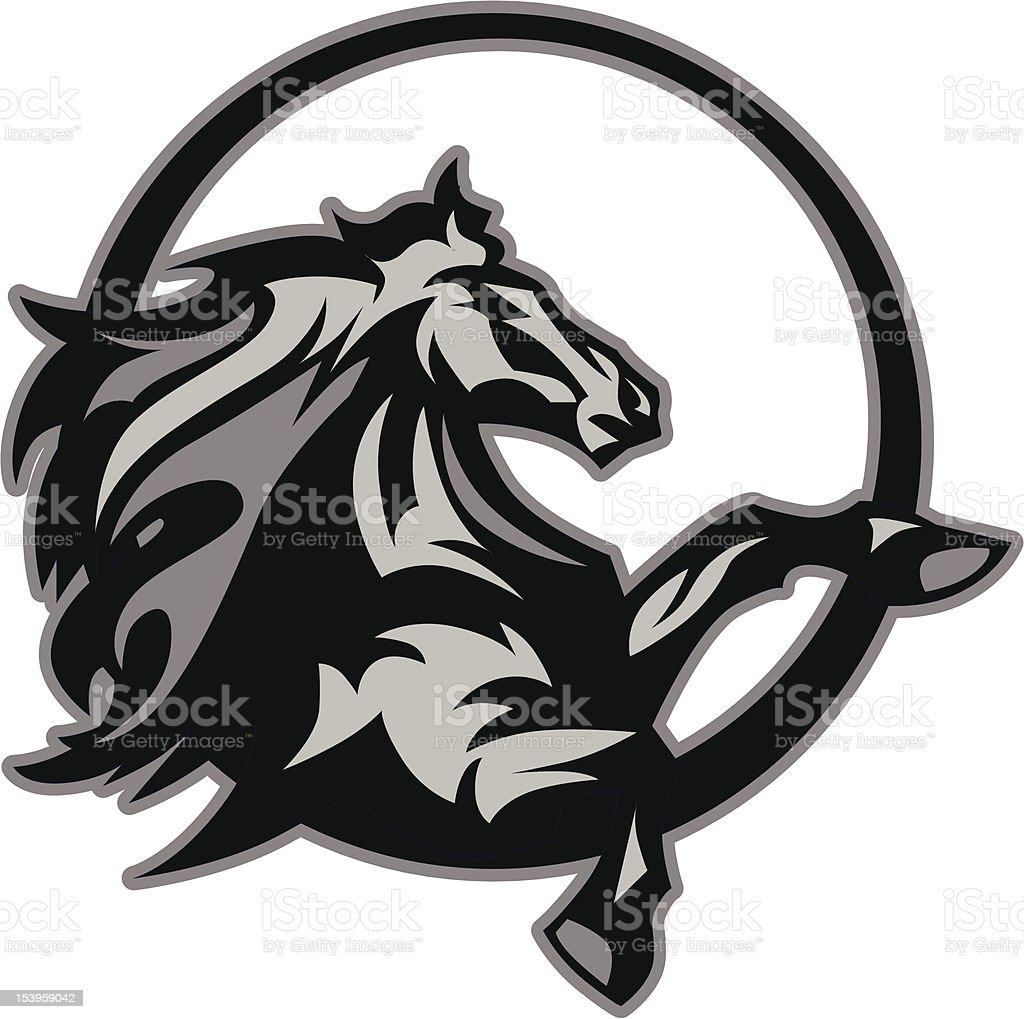 Mustang Stallion Graphic Mascot Vector Image vector art illustration