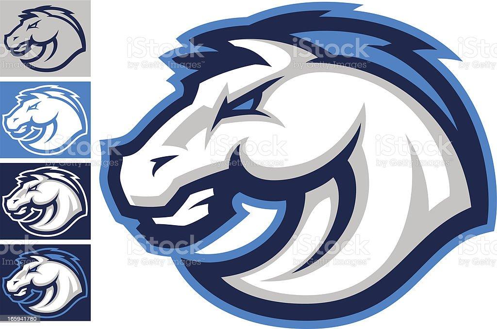 Mustang vector art illustration