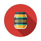 Mustard Flat Design Germany Icon