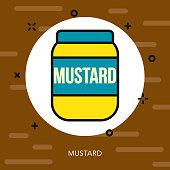 Mustard Thin Line Germany Icon