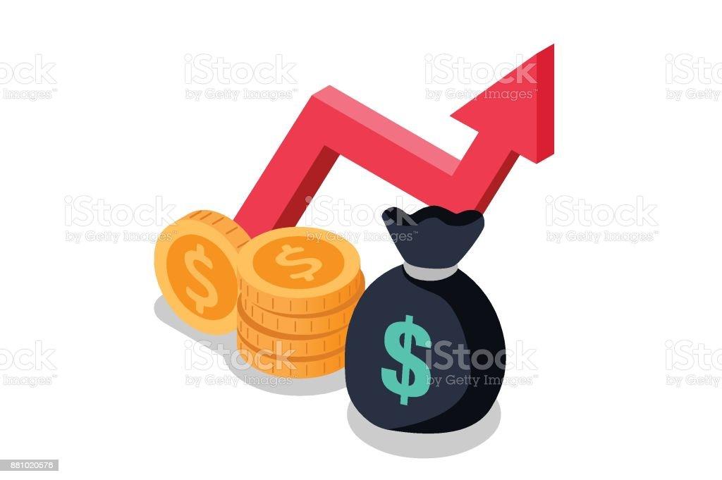 Mutual Found Money Icon Vector Illustration vector art illustration