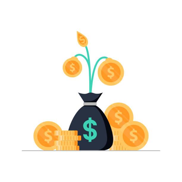 investmentfonds, ertragslage, statistik-bericht, erhöhung der einkommen, rendite, konsolidierung zu finanzieren - geldstrafe stock-grafiken, -clipart, -cartoons und -symbole