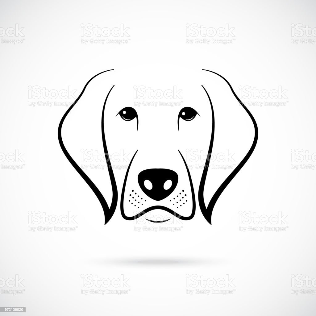 Muzzle Of Dog On White Background Line Art Dog Icon For Your
