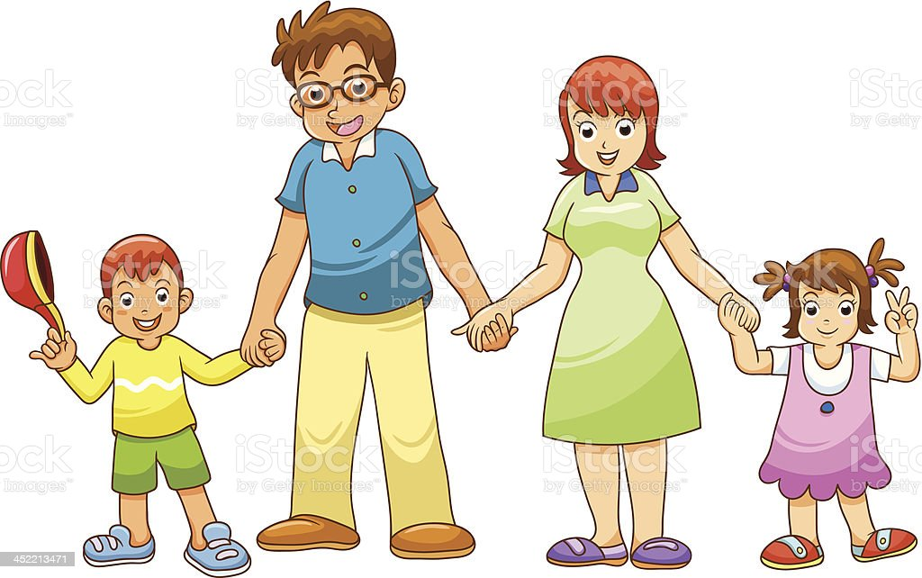 My family holding hands royalty-free my family holding hands stock vector art & more images of adult