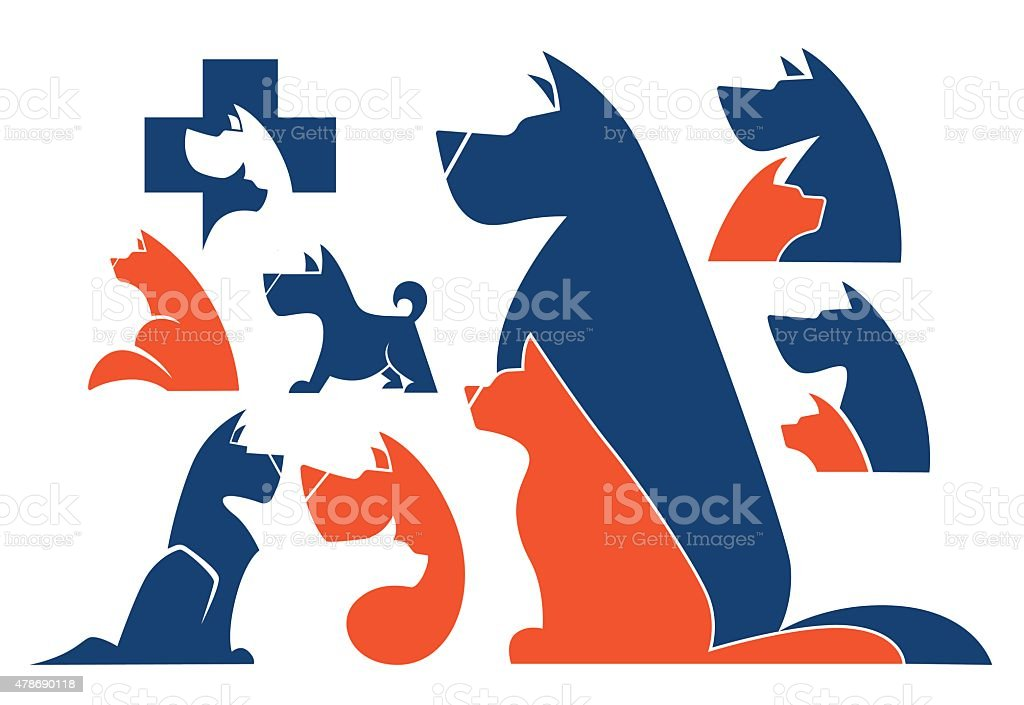 My Favorite Pet Vector Collection Of Animals Symbols Stock Vector