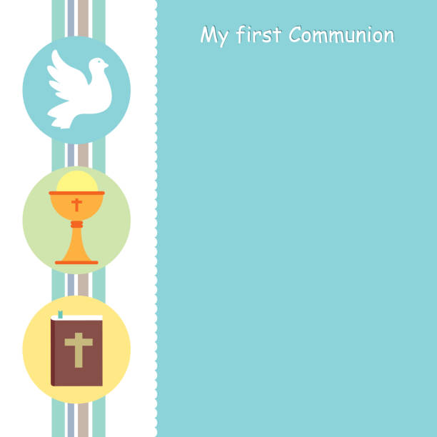 my first communion card - communion stock illustrations, clip art, cartoons, & icons