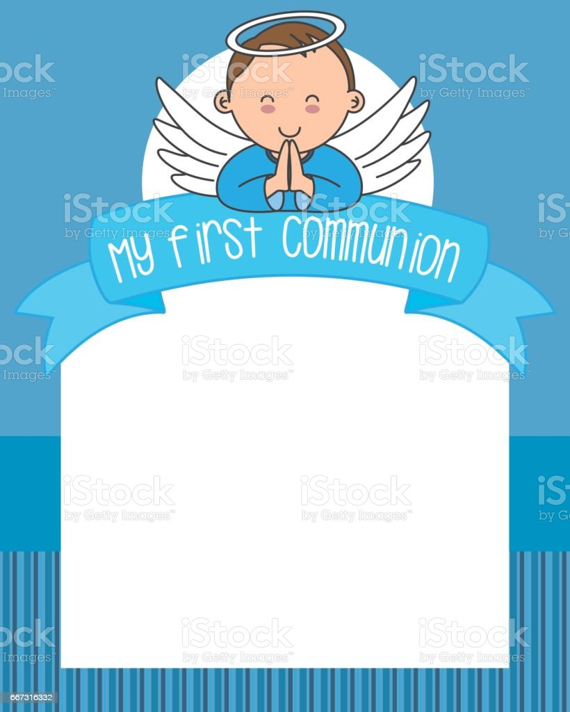 my first communion vector art illustration