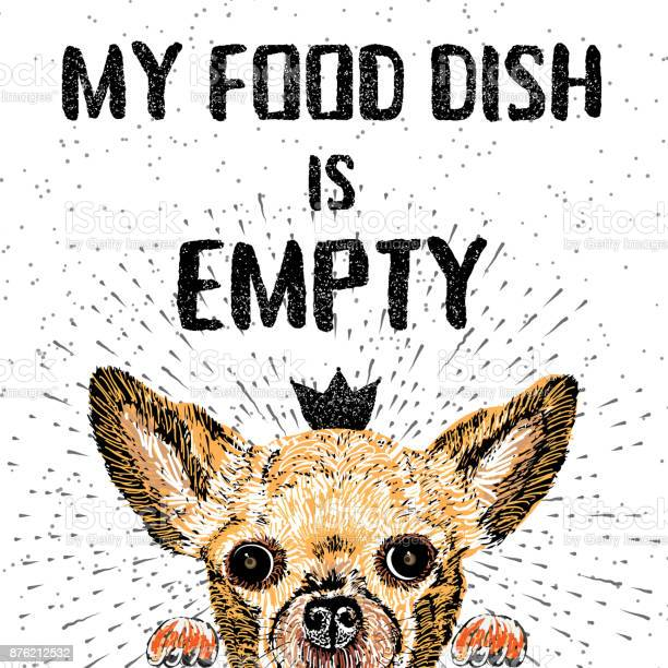 My food dish is empty vector illustration with hand drawn lettering vector id876212532?b=1&k=6&m=876212532&s=612x612&h=jposny f27siugarb6gmjse2s 7wlbhe2tox6cbu9la=
