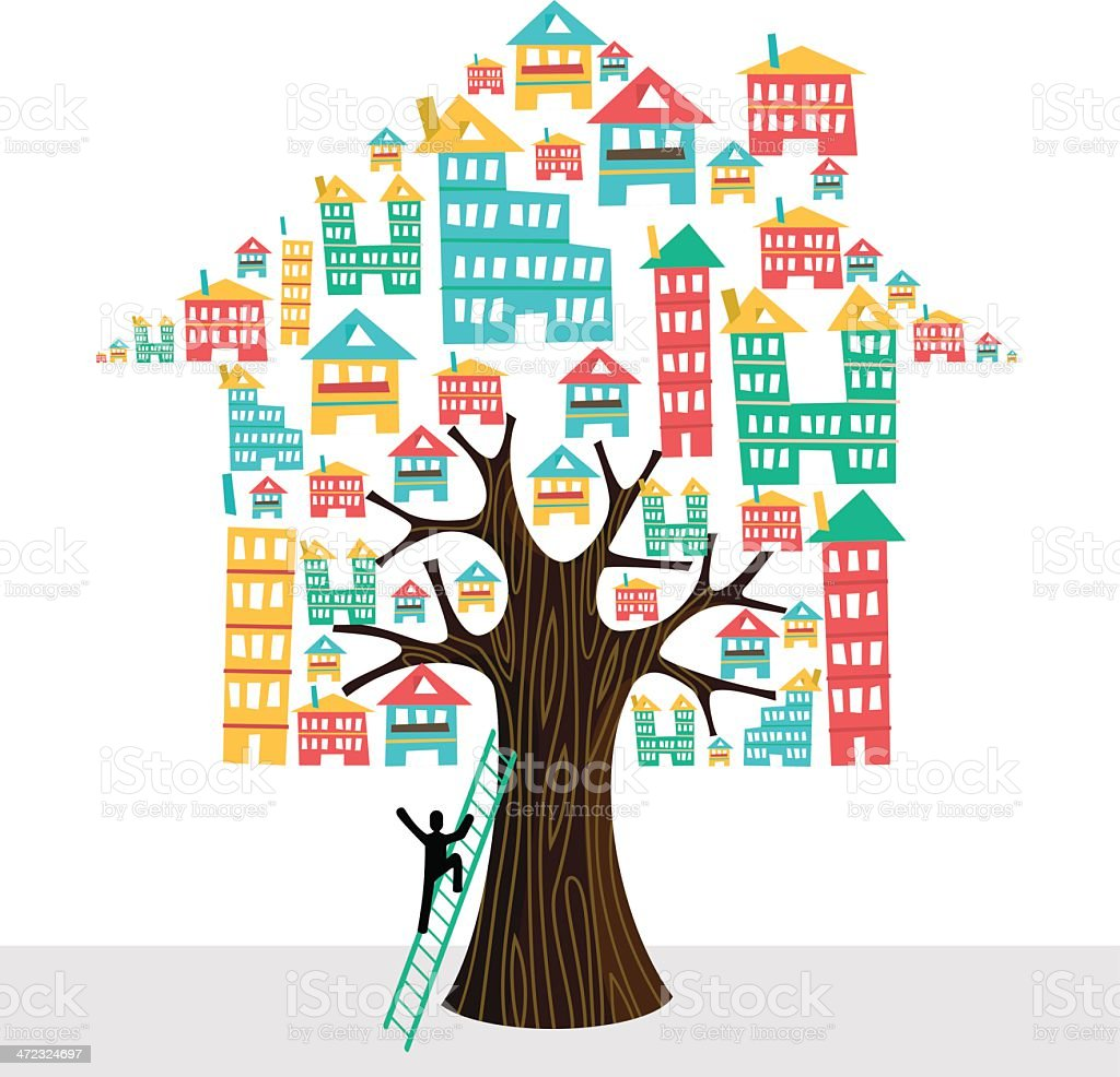 My house property concept tree royalty-free my house property concept tree stock vector art & more images of adult