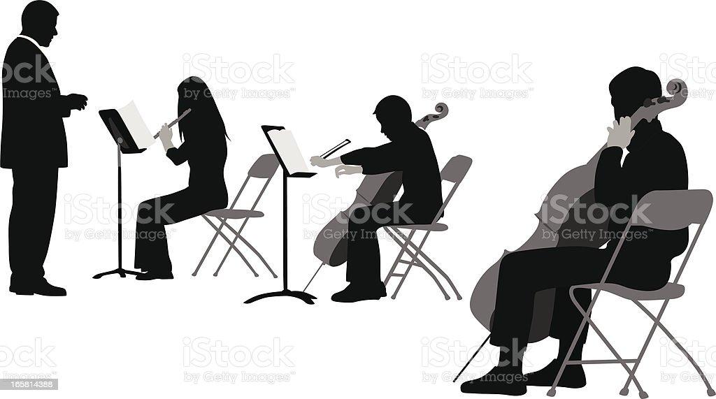 My Music Vector Silhouette vector art illustration