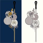 clockwork elements with chain