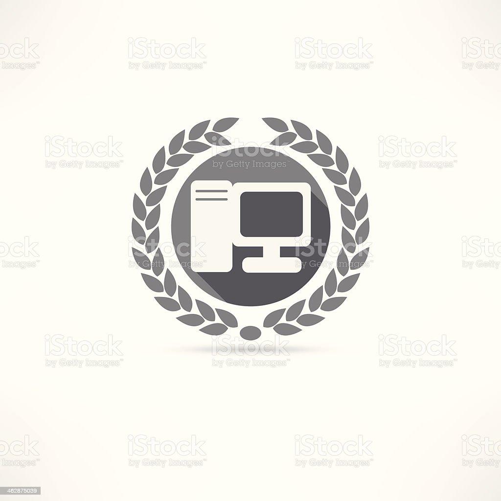 my pc icon royalty-free stock vector art