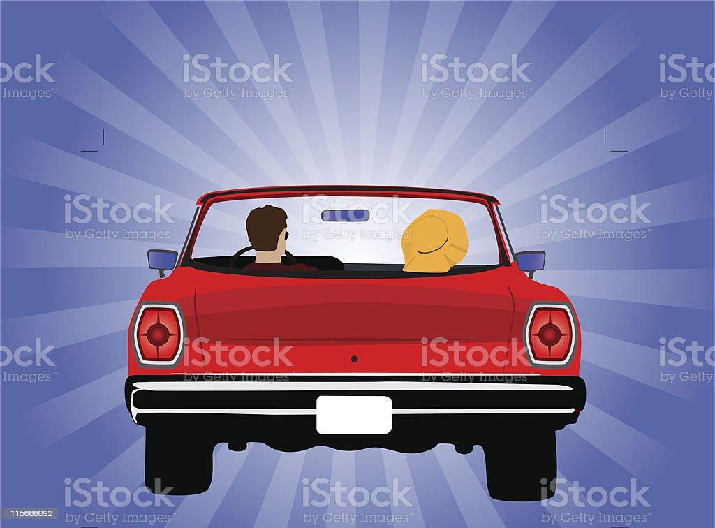 My Ride vector art illustration