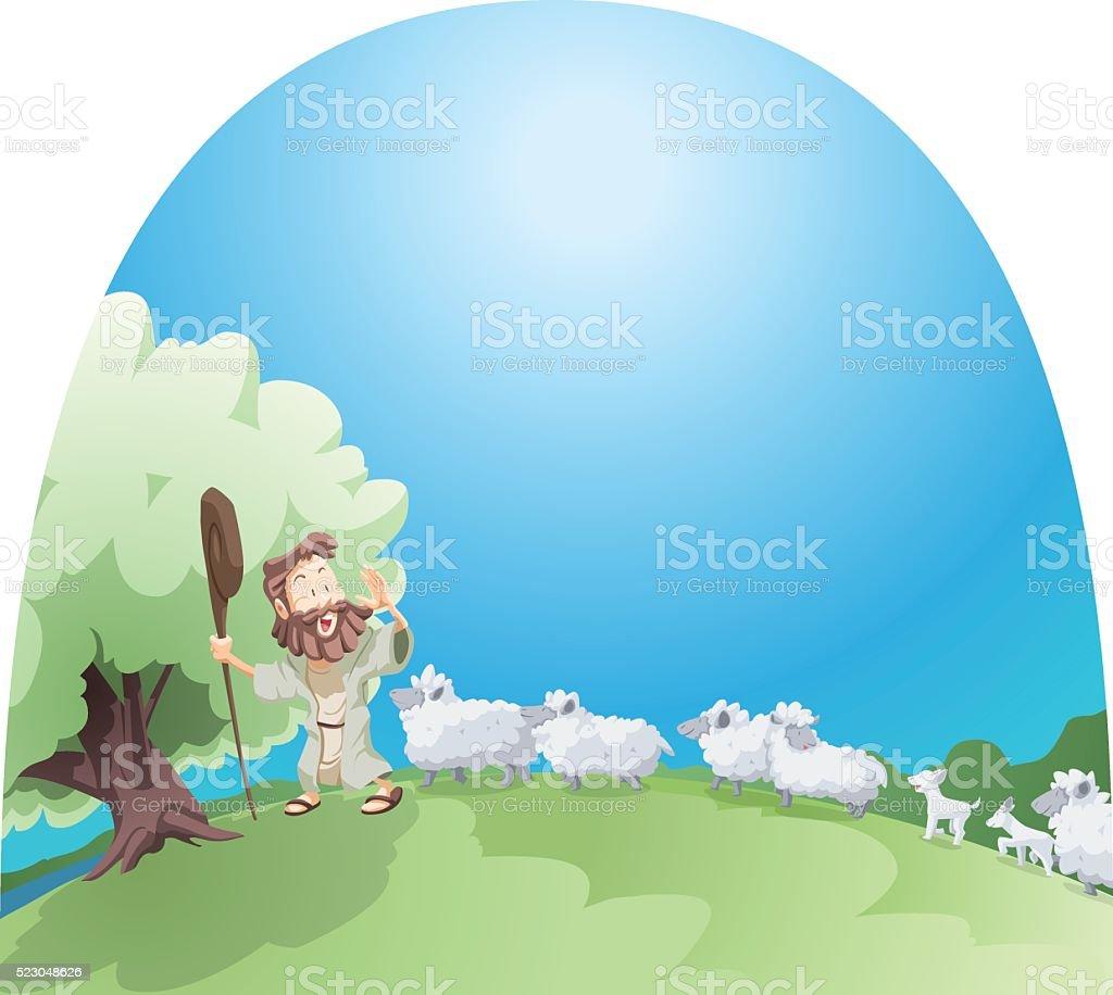 My sheep listen to my voice vector art illustration