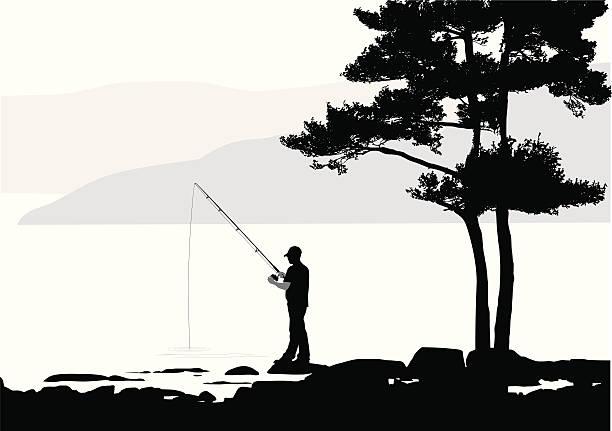 Download Free Man Fishing Vector Art