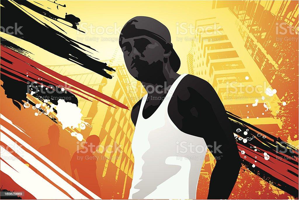My town vector art illustration