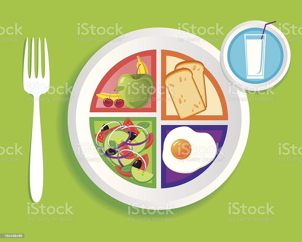 my_plate_breakfast vector art illustration