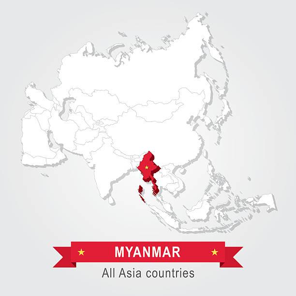 myanmar. wszystkich krajów azji. - burma home do stock illustrations