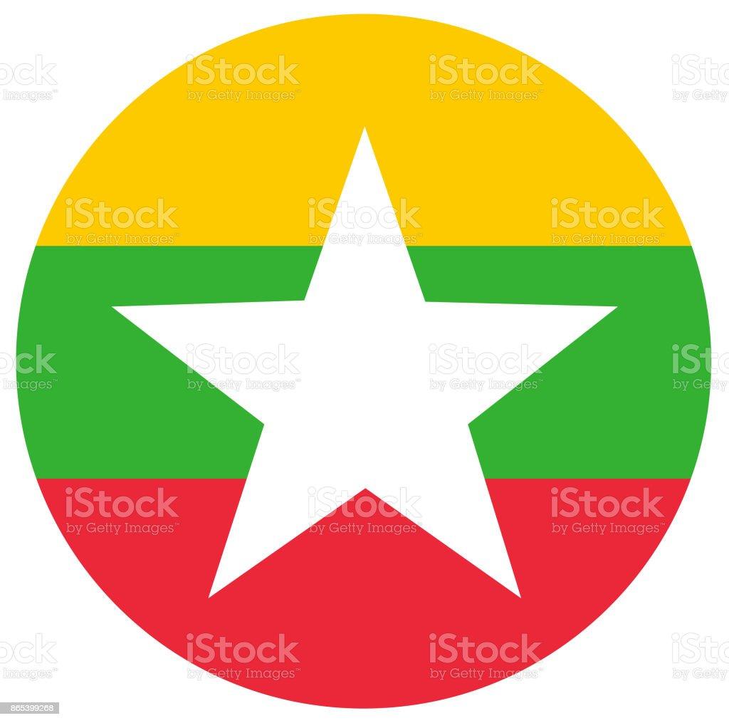 Myanmar flag vector art illustration