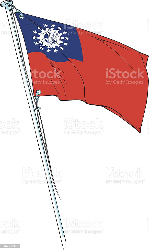 myanmar revolutionary flag royalty-free myanmar revolutionary flag stock vector art & more images of asia