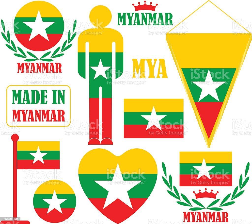 Myanmar vector art illustration