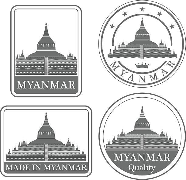 stockillustraties, clipart, cartoons en iconen met myanmar - myanmar